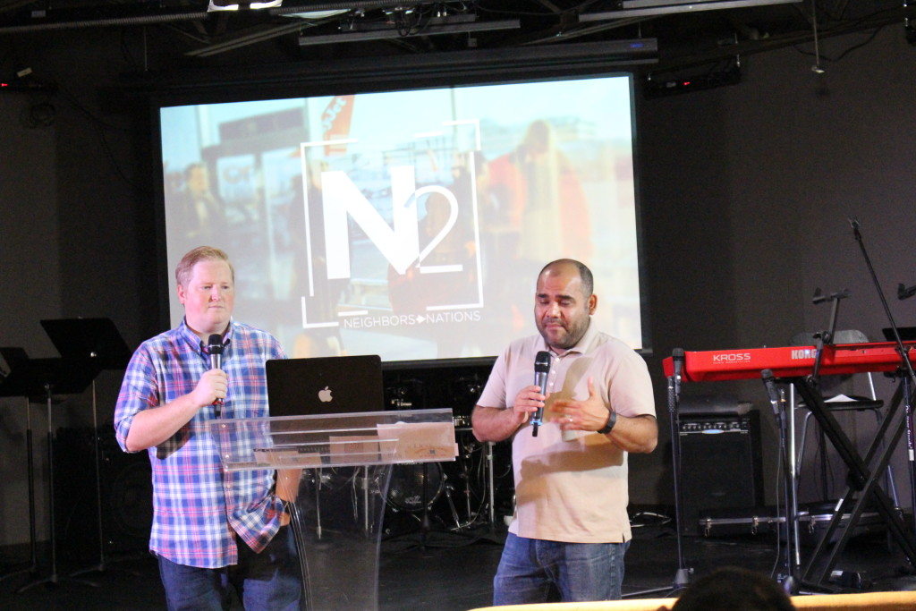 "Pastor Brent preached ""N2 & U"" with Jorge Arevalo translating into Spanish"