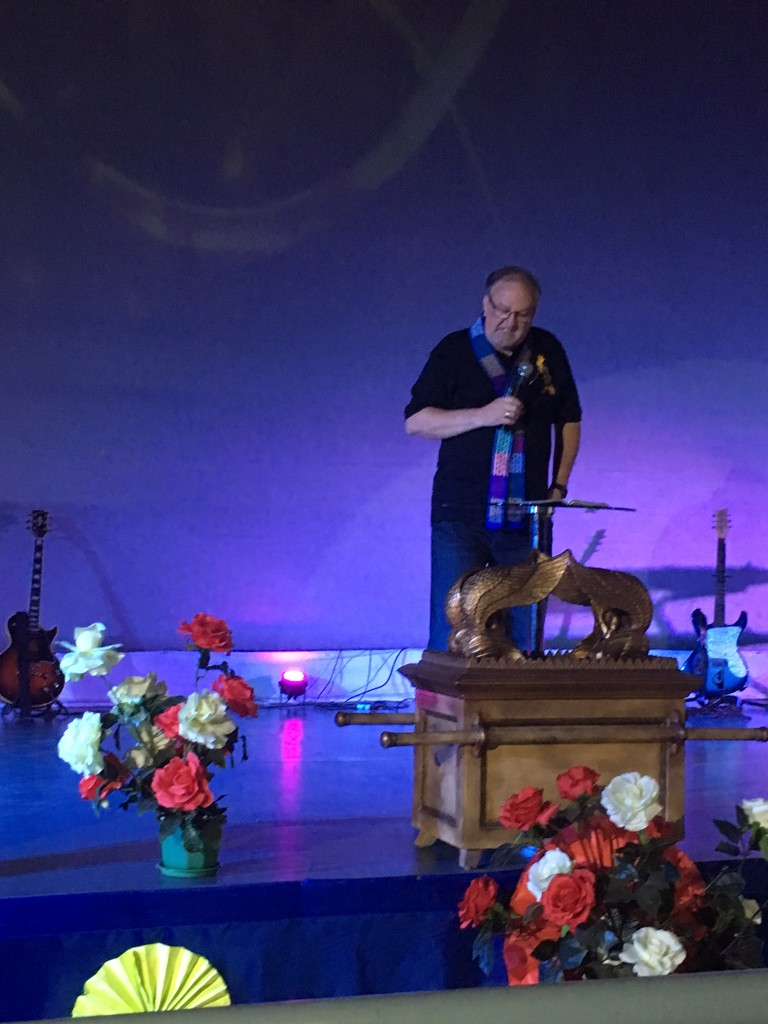 I shared a brief word about prayer before Chris brought the main message of the evening.