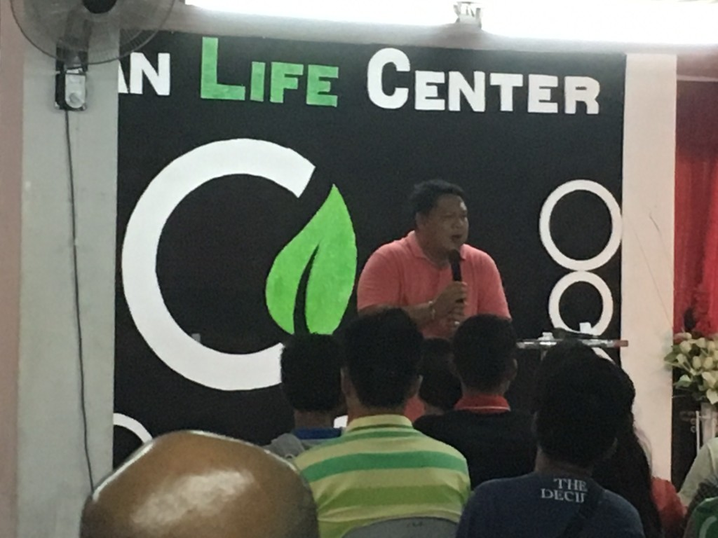 Host pastor Jun Bringas from CLC-Cagayan de Oro