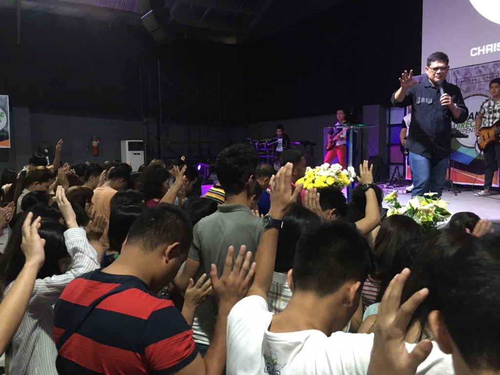Pastor Herley led the prayer for all those who responded.
