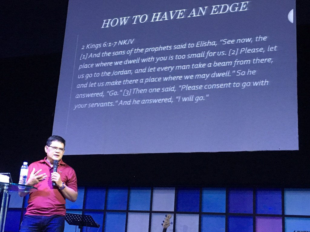 """Then Pastor Herley preached a masterpiece from the story of the missing axehead in 2Kings 6.  I don't  think any of us will ever forget that """"the iron did swim"""" and no matter how illogical or impossible it seems, God can still do it again!"""