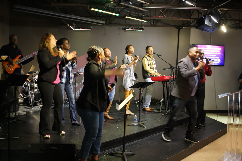 Pastor Jon Jones led worship at the Blue Island campus with this passionate team of singers & musicians!