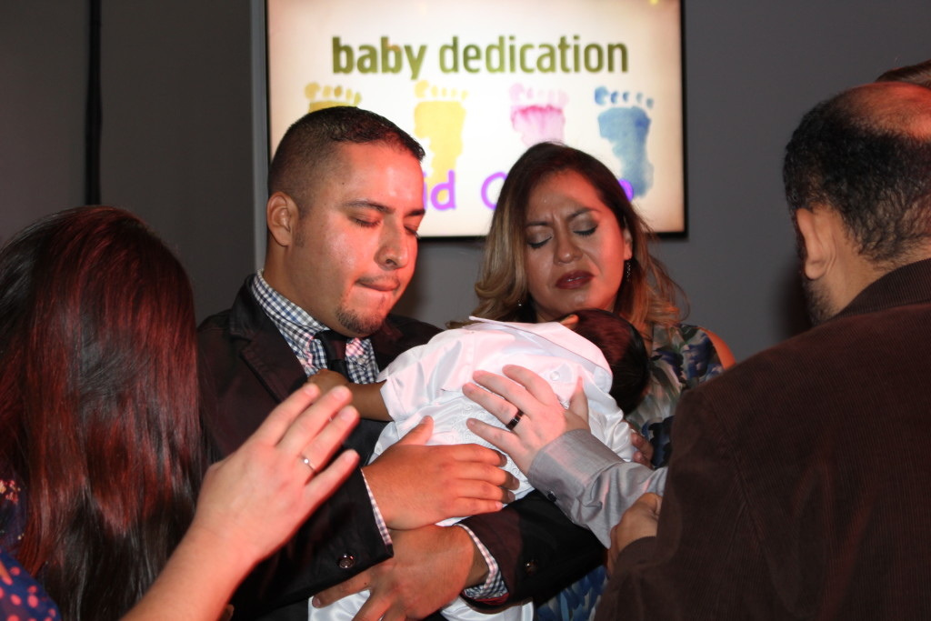 David Castro, son of was presented to the Lord this morning at Blue Island-