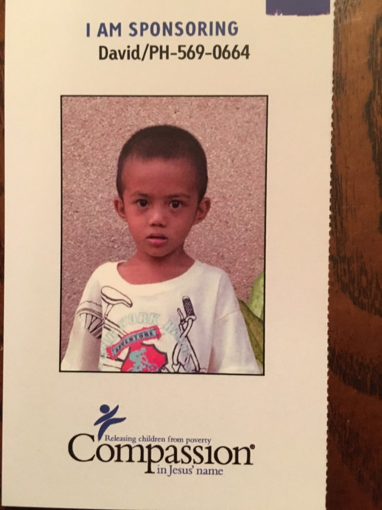 So my wife and I decided to sponsor this little 6-year old from Mindanao, Philippines