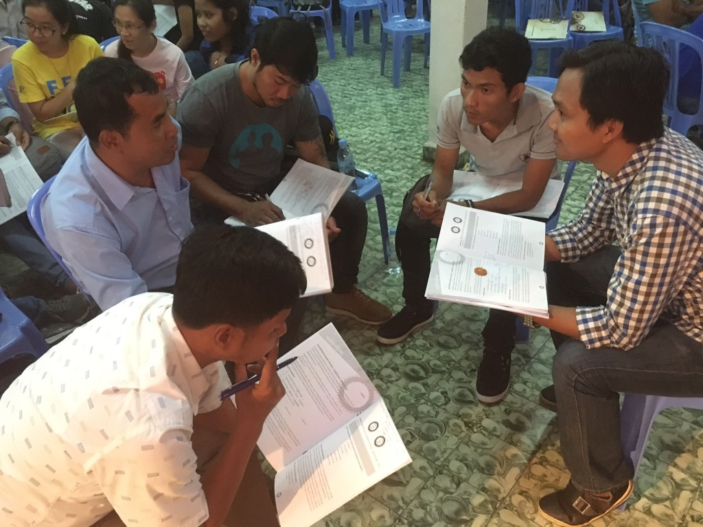 One of the reasons we enjoy teaching here so much is the HUNGER of the Cambodians to learn.  There were 400 leaders from churches & NGO's all over the country who gathered today to receive, and they love to discuss what they're learning.