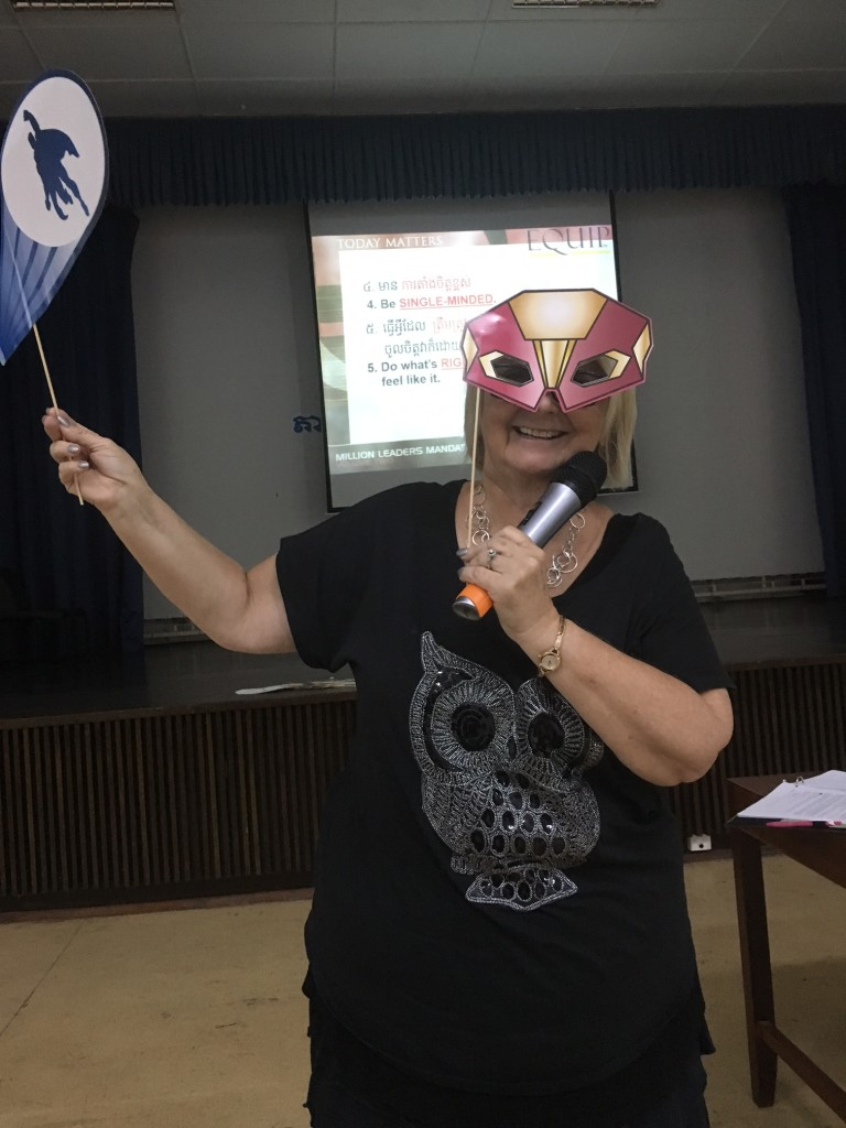 """Every student had the opportunity to be a """"super hero"""" today....but the teacher got to model it first!"""