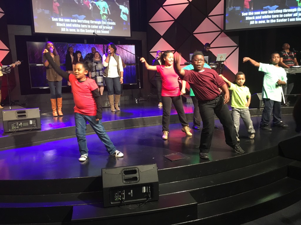Kids dancing during the opening song was a great way to kick-off today's Family Sunday!