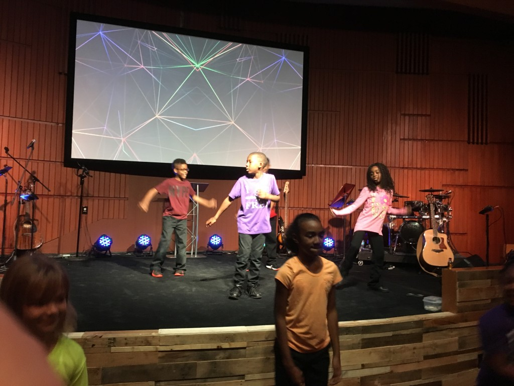 The NWI KidsLife dance team brought energy to their Family Sunday!