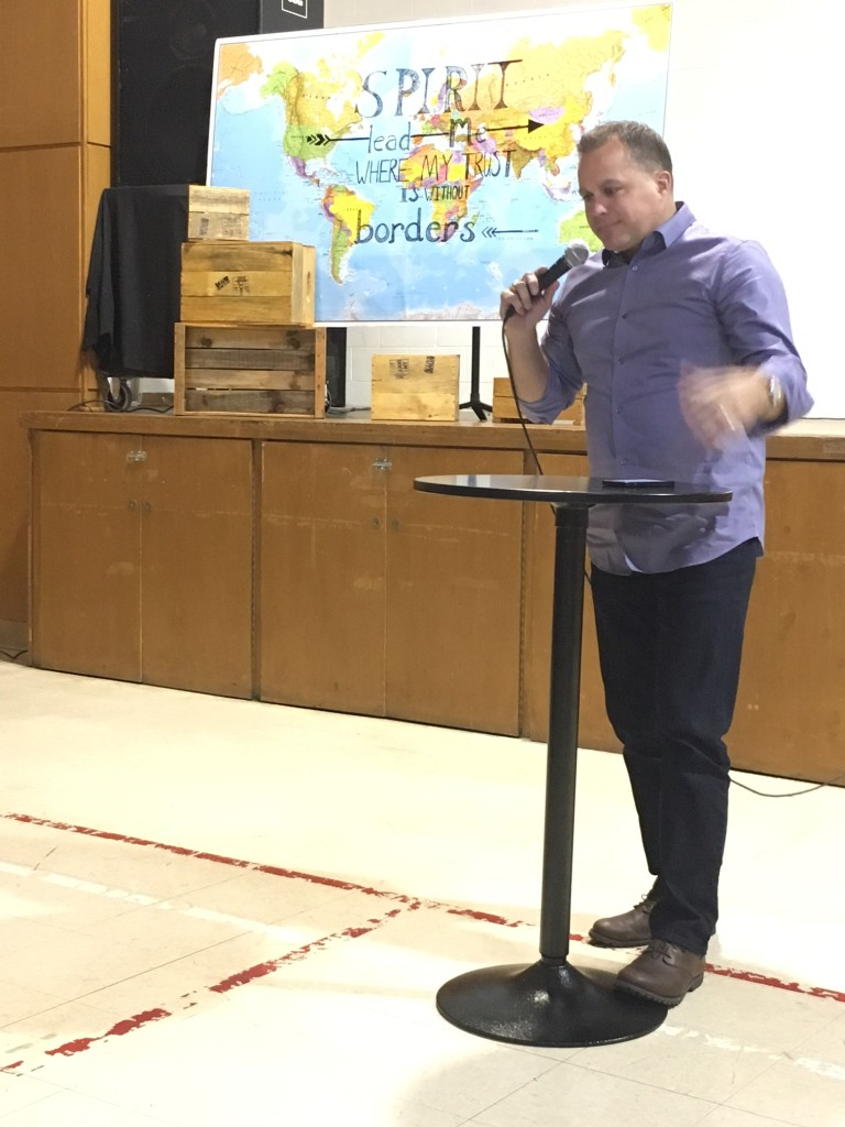 "Matt Kitchen from Compassion International challenged all of us with ""What are YOU going to do about it?"""
