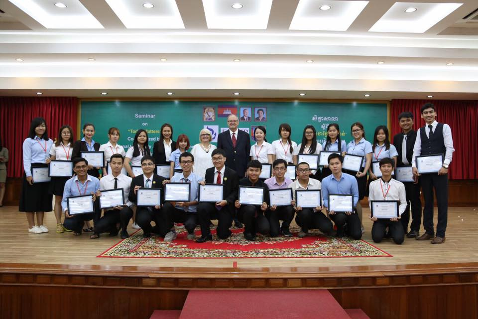 "This group photo was just a few representatives of the students who completed the seminar, ""Today Matters"""