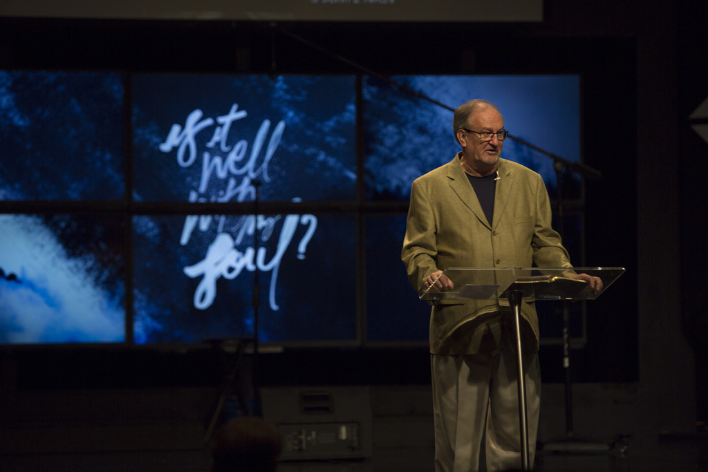 The story of Absalom made for a heavy message at each campus today-