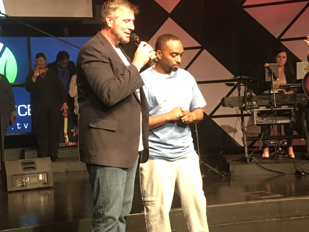 We celebrated with DONALD SINGLETON who gave a touching testimony prior to his water baptism today!