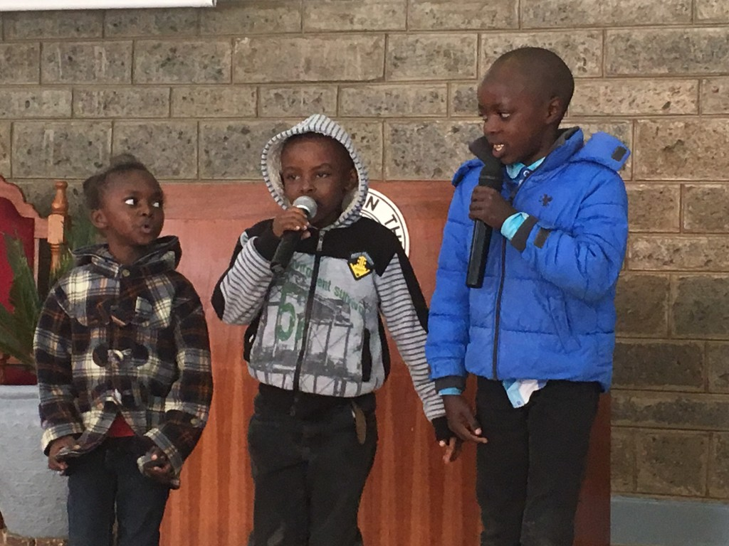 I especially enjoyed this children's trio of RAPPERS for Jesus! I'm not sure what they sang, but it was too cute!