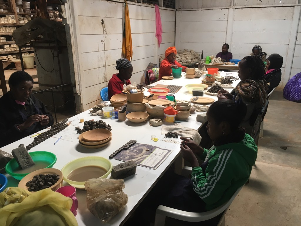 ...but the major part of their enterprise is producing native jewelry from the clay to the finished product...