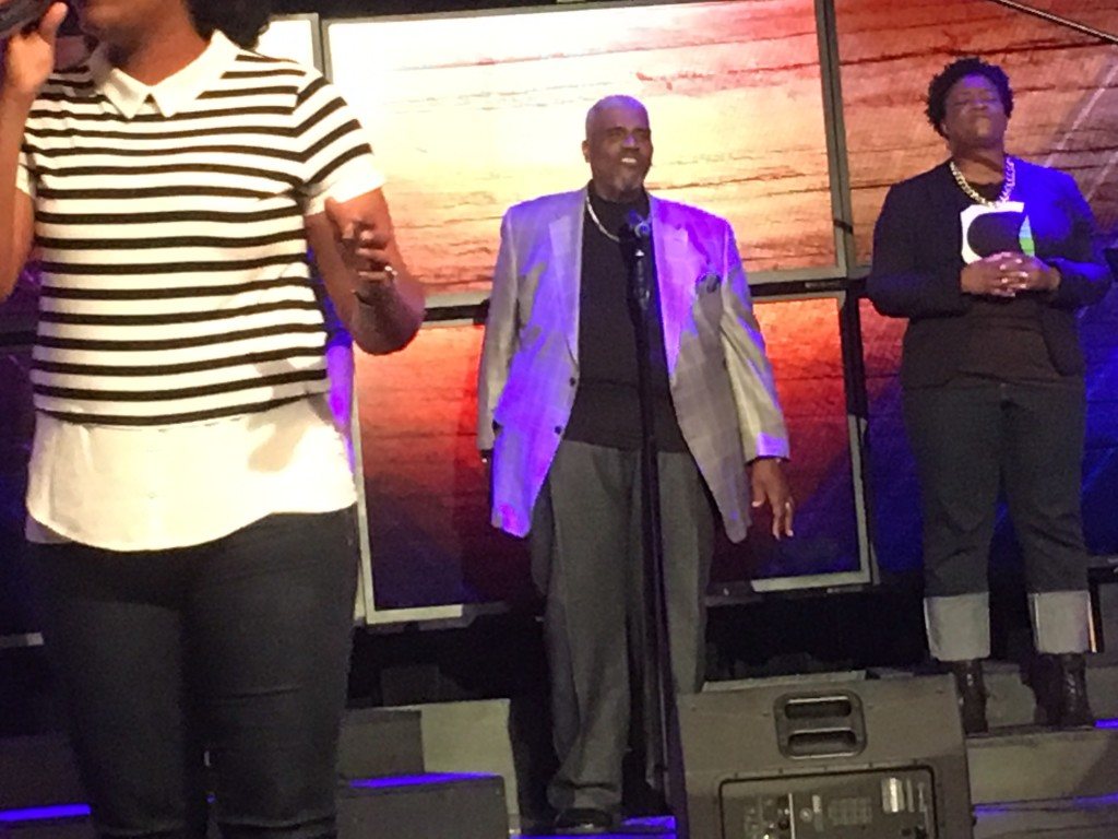 "And Tony Powell KILLED it on ""Give Thanks""!"