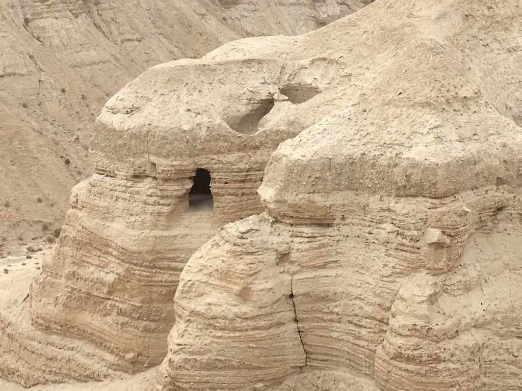 This is cave 4 at Qumran, where most of the scrolls were found