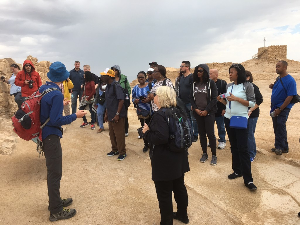 Our first stop today was at Masada, which is always one of the most amazing sights of any Israel tour.  While it has no Biblical significance, seeing the construction expertise by Herod the Great and his Roman soldiers over 2,000 years ago is beyond amazing.