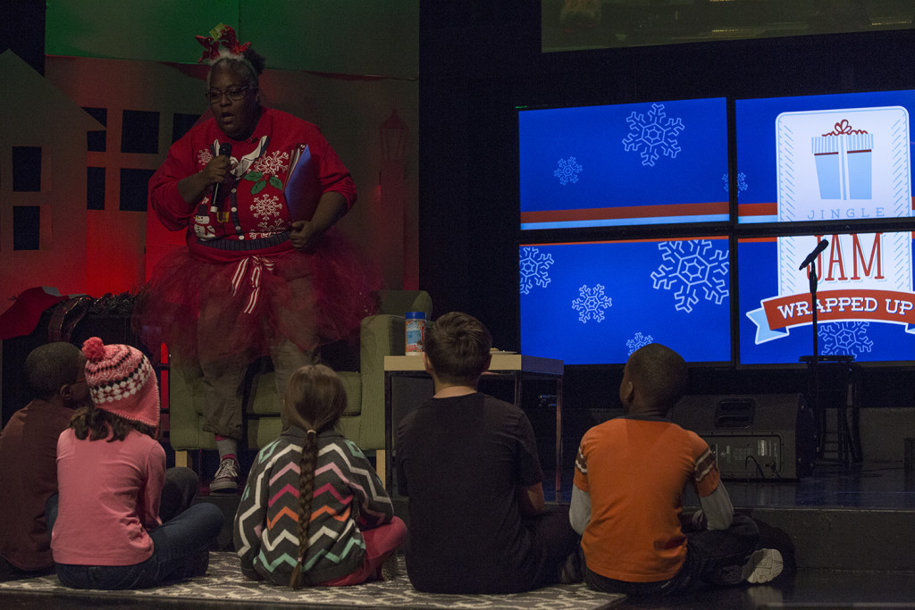 "Jingle Jam featured the ""Perfect Christmas Story"" from our own Ms. Angie"