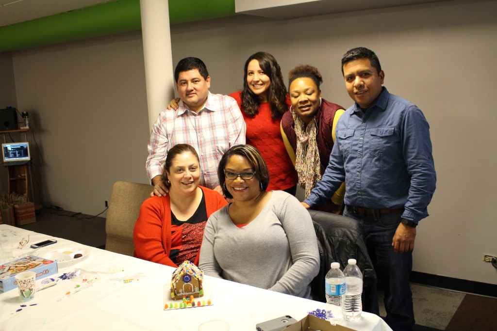 "After service, the Core leadership team had a Christmas party with some friendly 'gingerbread house construction' competition. This team won the ""Most Beautiful"" prize-"