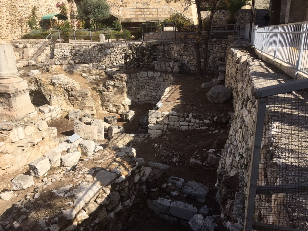 The pool of Bethesda mentioned in John 5 (healing of the impotent man) as it looks today