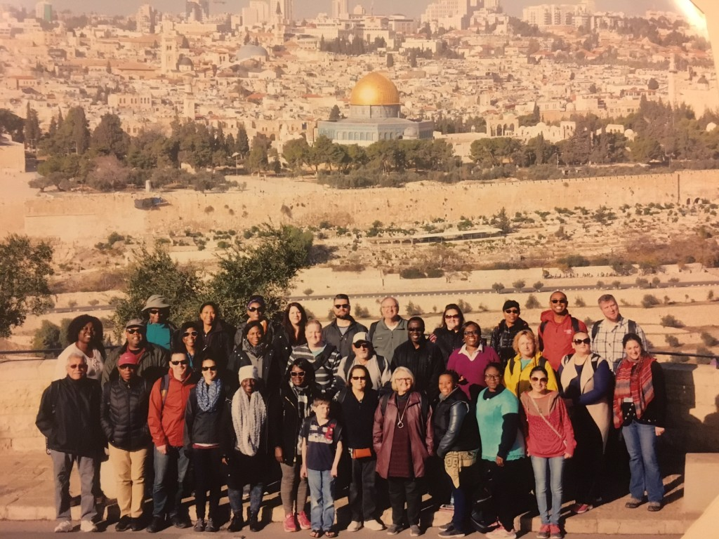 We spent all of Monday in the Old City of Jerusalem, beginning on the Mt. of Olives with this group photo-