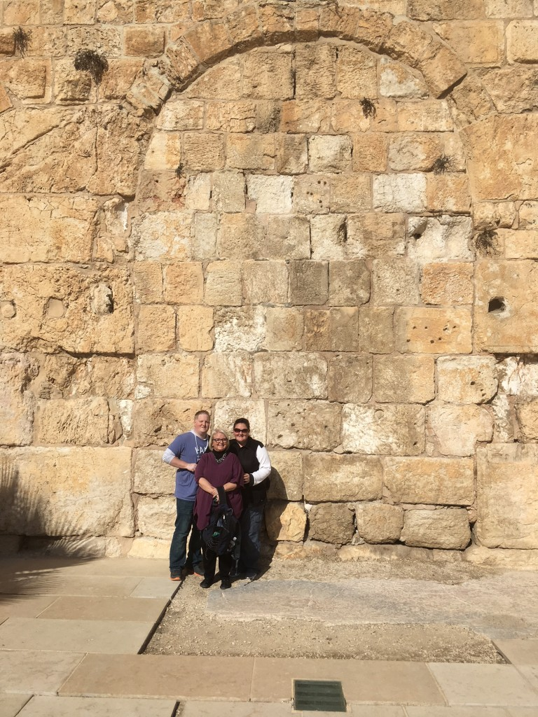What a personal thrill to share this trip with my wife and two of our children - here posing in front of the southern retaining wall just outside where the temple once stood.