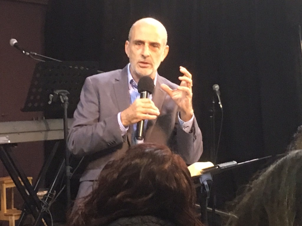 "We had the privilege of being at one of CLC's partners, ""Revive Israel"" for their Wednesday time of worship, prophetic ministry & teaching. This pic is the Founder/Director, Asher Intrater, who brought a great teaching about the purpose of apostles today."