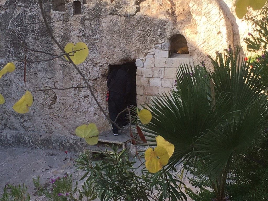 No visit to Israel is complete without a visit to the Garden Tomb, which meets all the Biblical descriptions of the place of Jesus' burial - but HE is not there; He is risen indeed!