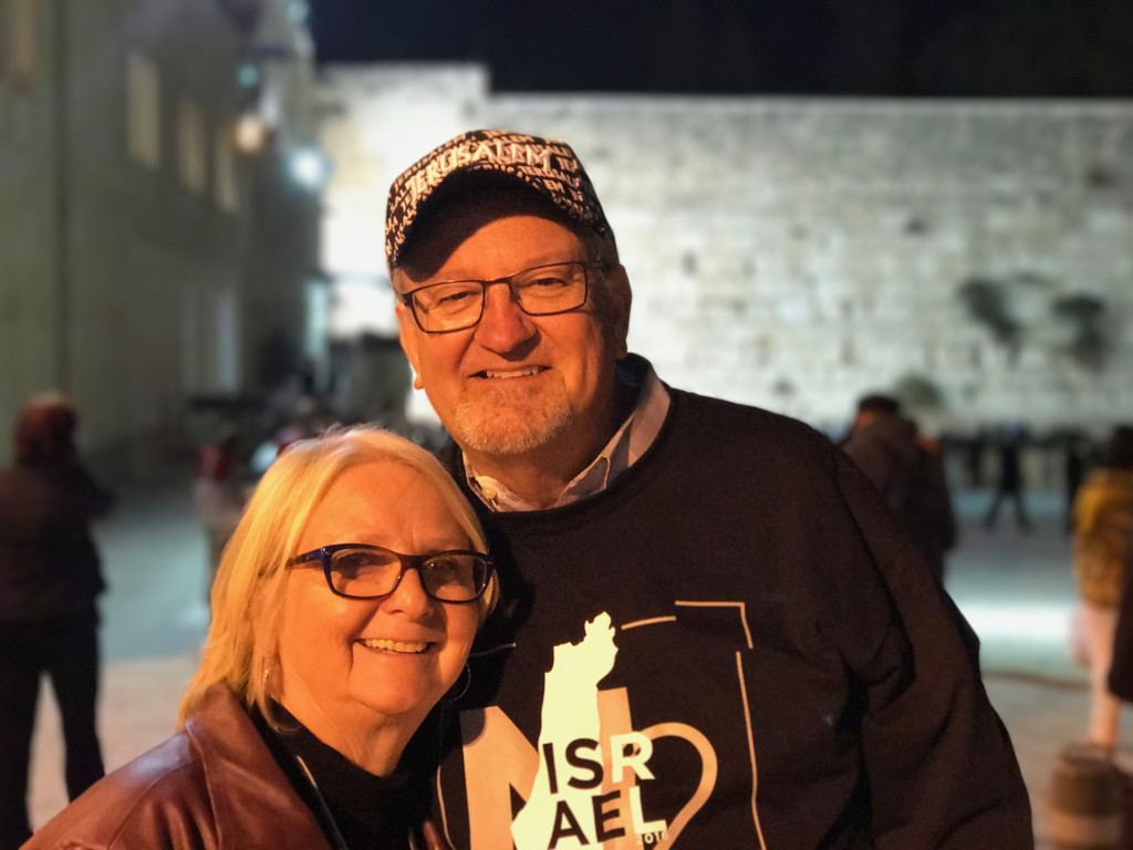 Finally, we toured the full length of the Western Wall underground, thru tunnels and ended our visit to Israel with a final look at the Western Wall at night - and it was even more special to have the love of my life share the experience with me!