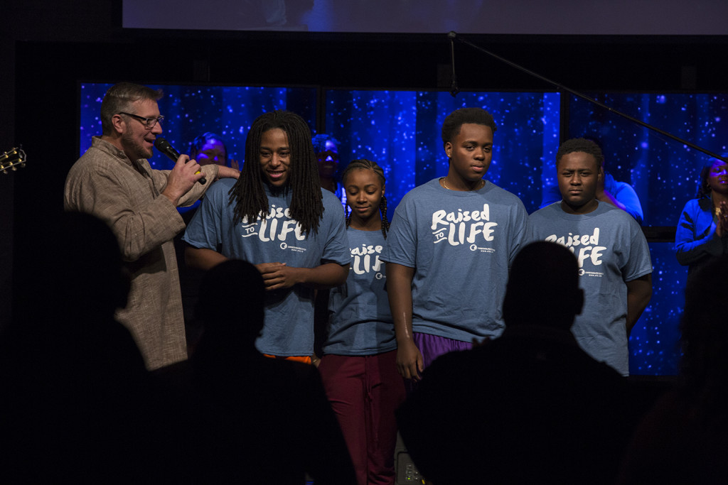 One of the highlights in Tinley Park was baptizing 4 young people at the 10am service!