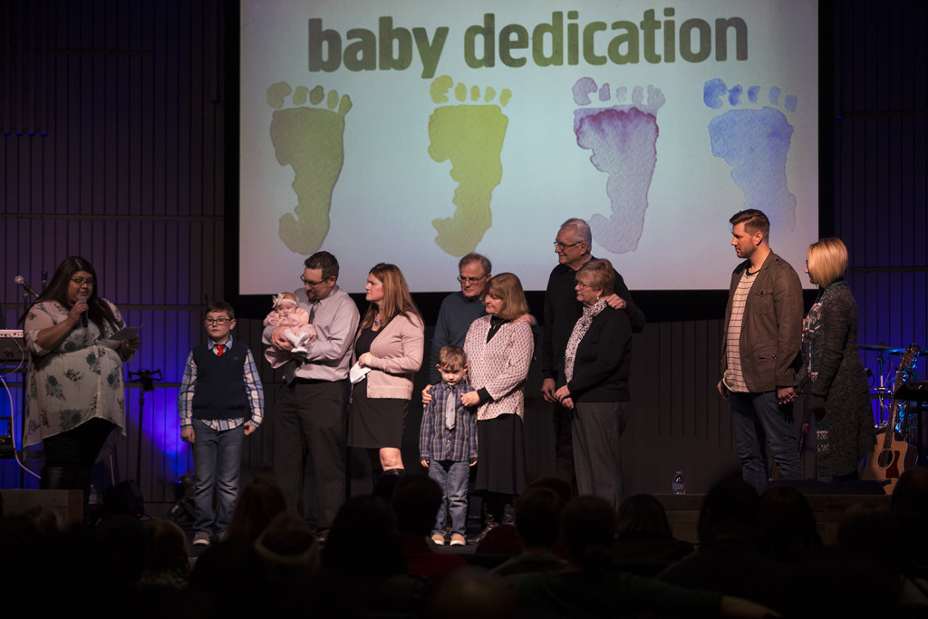Our Hammond, IN campus featured a baby dedication