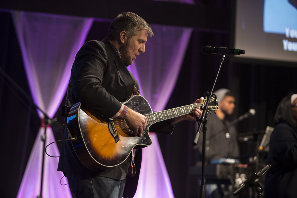 Our Executive Pastor is one versatile guy - leading, singing, playing - you never know where you'll see him next!
