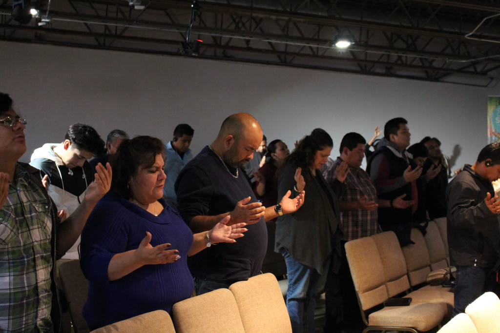 "it seems the entire congregation at each campus is praying ""Send Me"" this week!"