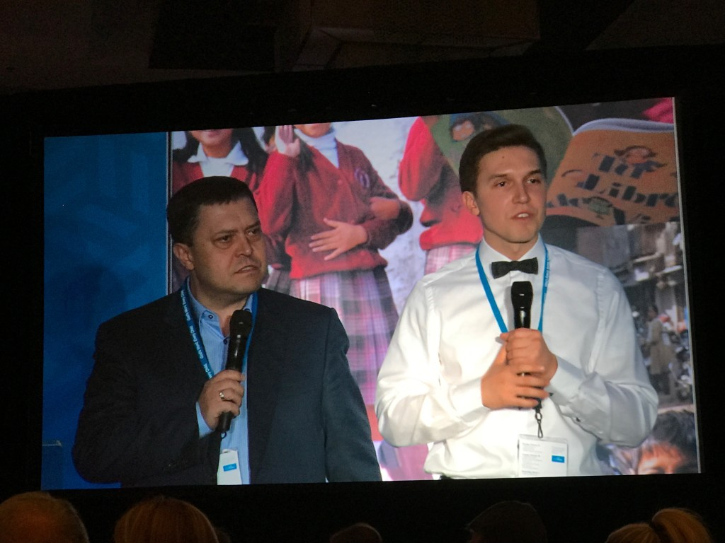 Our friend, Bishop Edward Grabovenko told how OneHope has been such a great partner in reaching Russia (his son David translated)