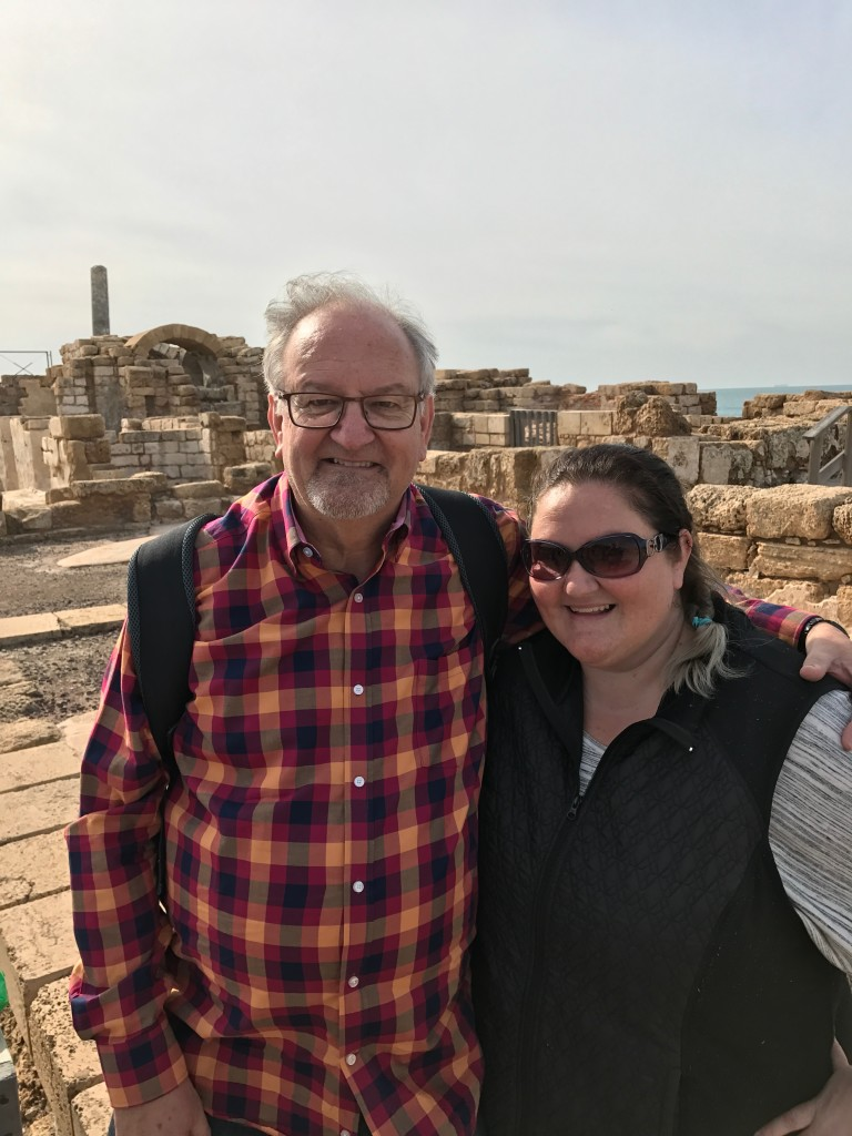 with the birthday girl in Israel a few months ago - checking off our bucket list together!