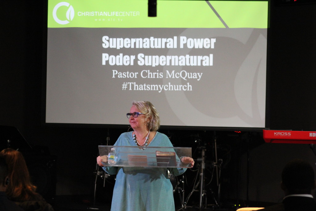 "My wife brought the word on our core value of ""the full ministry of the Holy Spirit"" (Supernatural Power)"