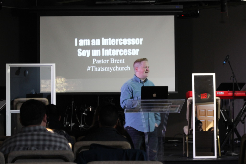 Pastor Brent illustrated how intercessors pray thru a window instead of in a mirror. Good word!