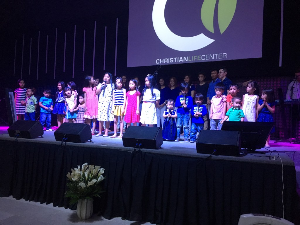 This children's ensemble opened the morning services singing, 'Yes, Jesus Loves Me' & it was ADORABLE! (Just to the right of center stage are the 3 children of Pastor Joel Montes: Sophia 2, Jaden 6 & Yada 4)