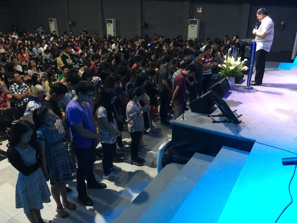 Each service they came forward to receive Christ!