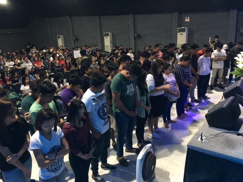 Even after a powerful move of the Holy Spirit among believers, this group of people waited until the close of service, but when the invitation to receive the Lord was given, they came!