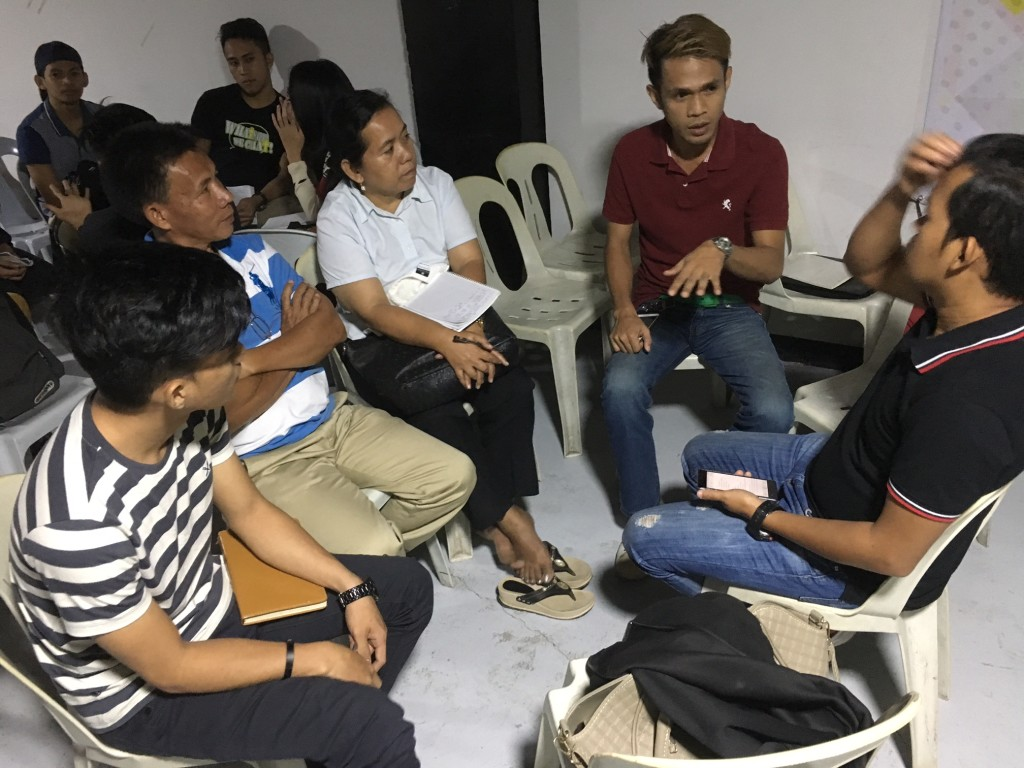 After the teaching, the pastors & leaders met in small discussion groups-