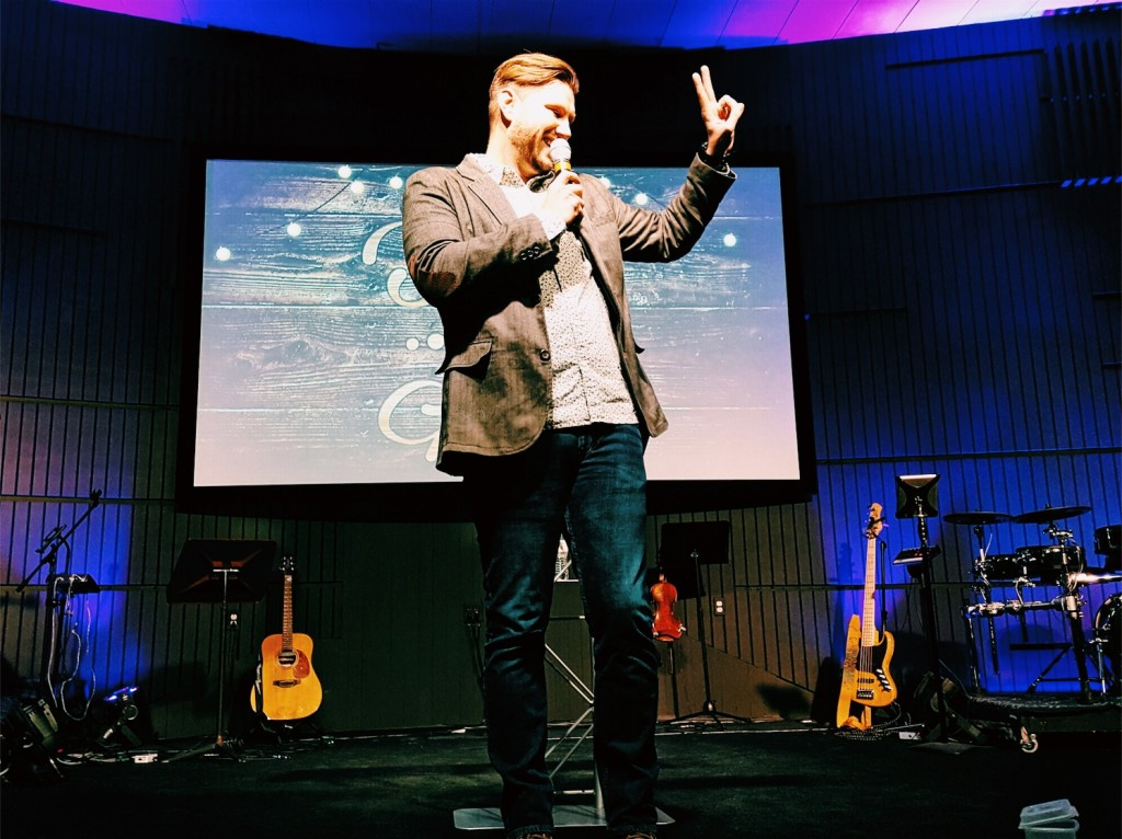 Pastor Sam announced that NEXT Sunday they'll be going to 2 services at NWI!