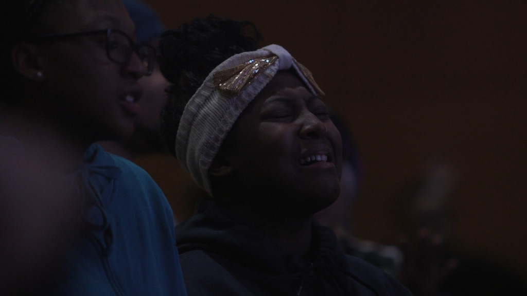young in worship...