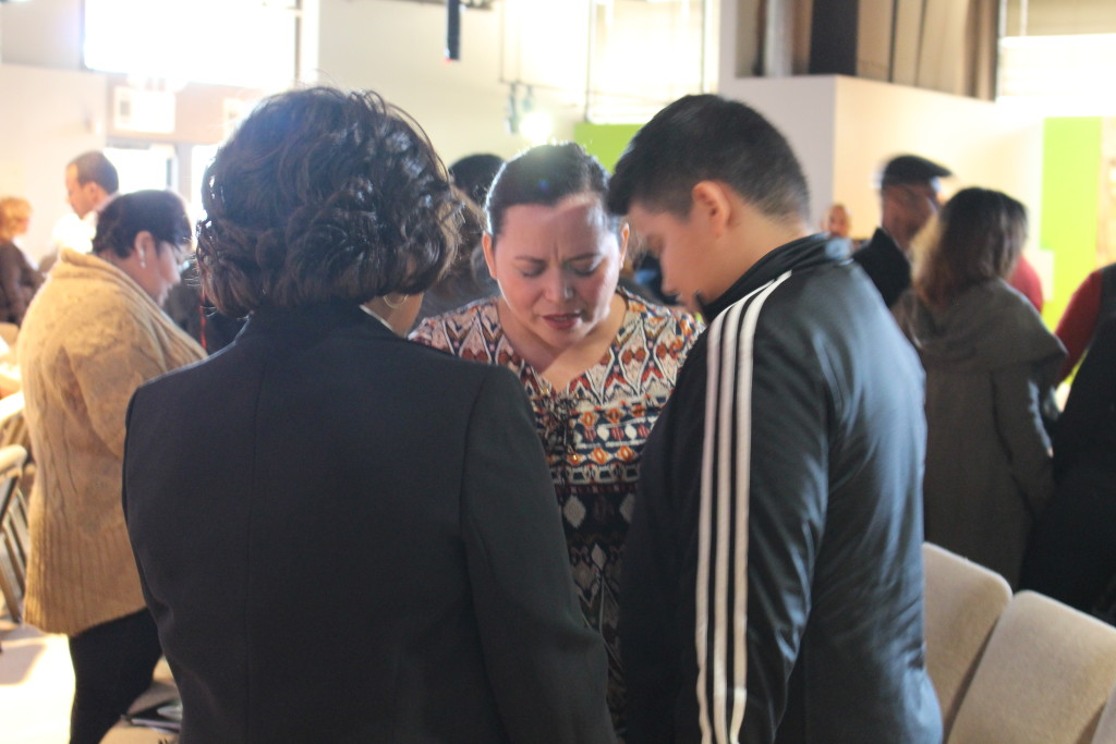 At the close of service in Blue Island, the whole congregation joined in faith-filled prayers for each other!