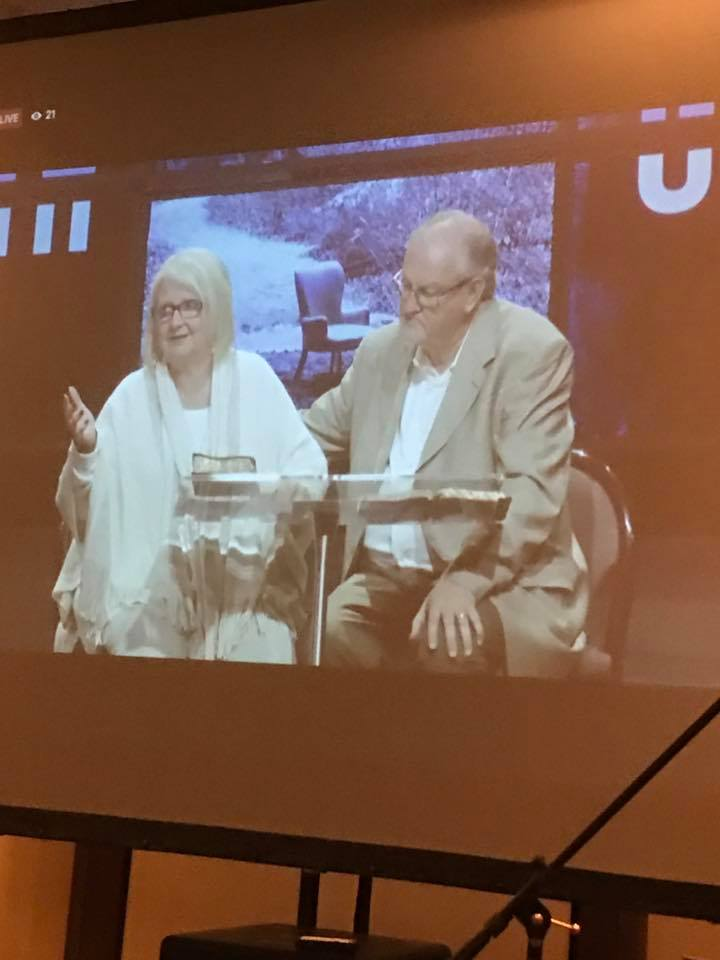 """Today we not only taught the Tinley Park campus how to use """"Faith for your Family"""", but we were live streamed to the Marriage Retreat for their closing session."""
