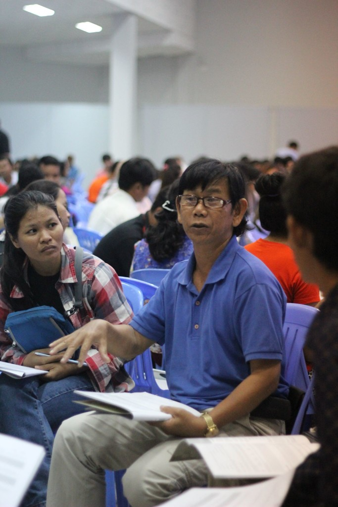 If I'm honest, the Cambodians probably get more from their discussion times together than from my teaching - I love this candid shot from one of today's discussion times.
