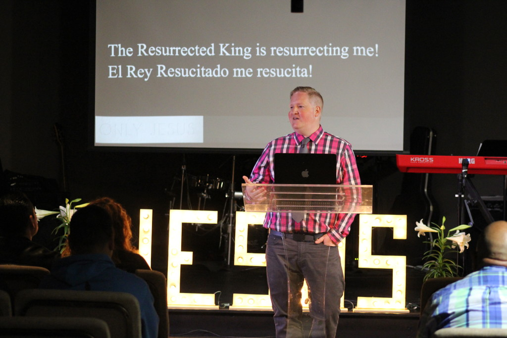 Pastor Brent explained why the Resurrection is important in Blue Island-