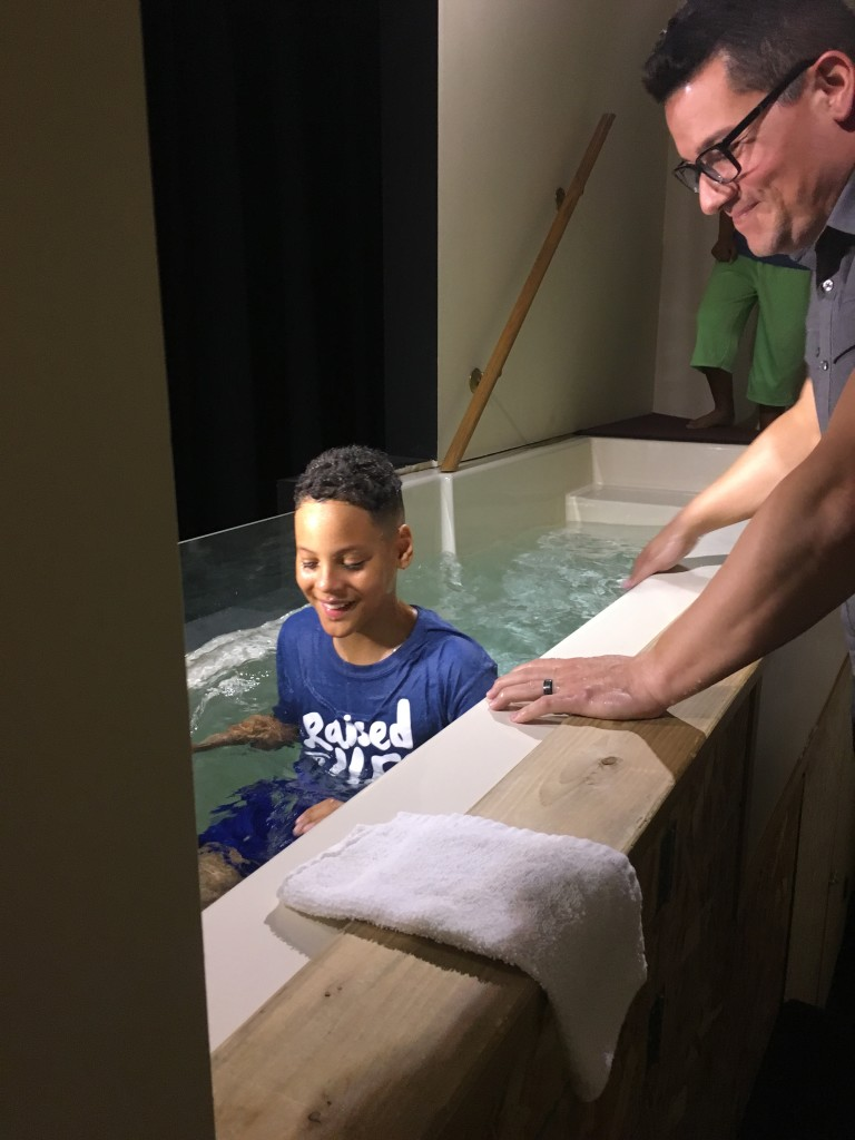 Palm Sunday baptisms: Grant Durham