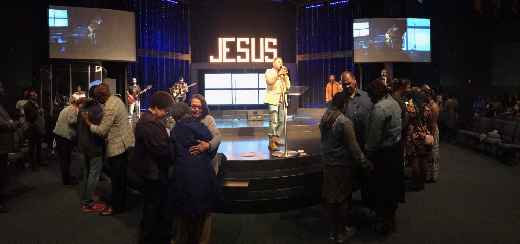 At each service in Tinley Park today people came forward to receive Christ! (that never gets old!)