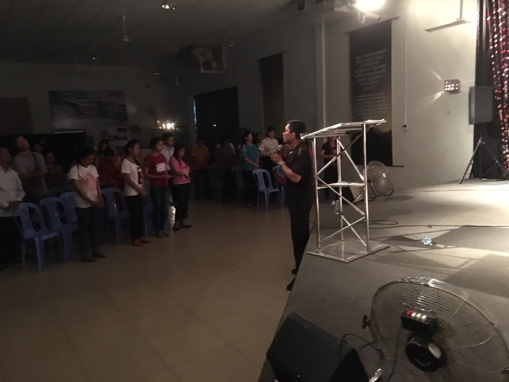 Sorry for poor lighting, but I preached to a full house at the TSK campus of New Life Fellowship tonight, with the translation from my friend, Pastor Samady.